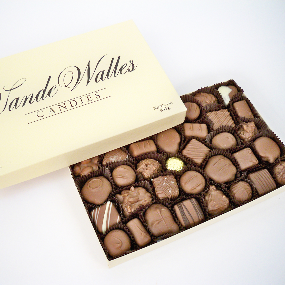 Assorted Milk Chocolates - 1 lb. Box