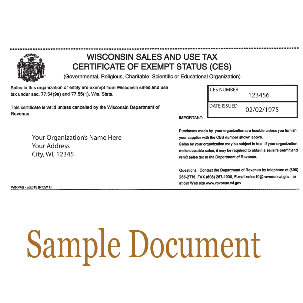 Tax Exempt Form - Attach Here