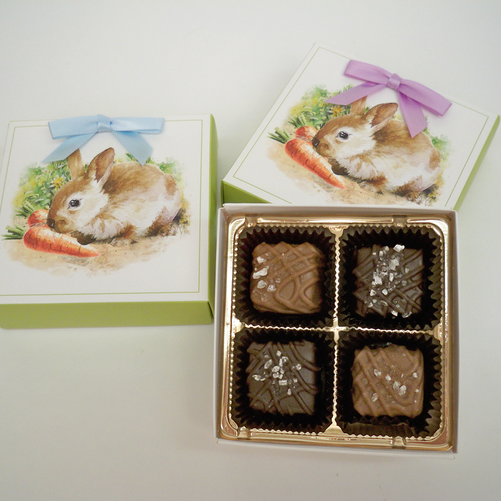 Sea Salt Caramels in Easter Box