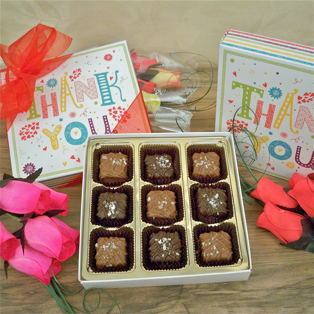 Thank You Chocolates with Roses