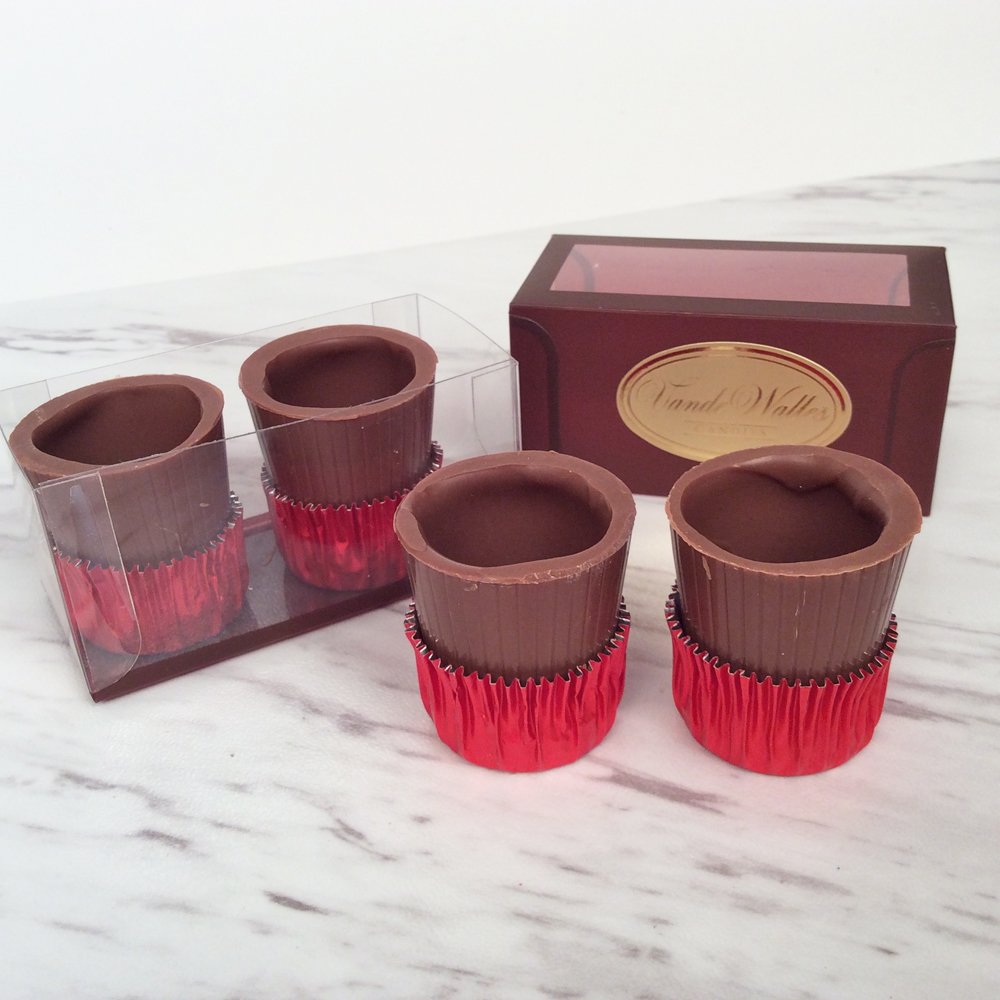 Chocolate Liqueur Cups (Shot Glasses)