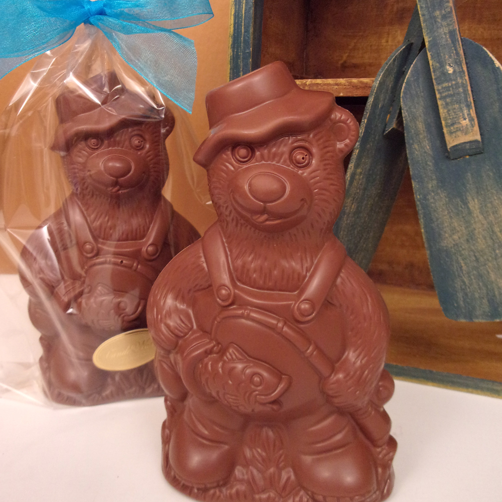Chocolate Fishing Bear