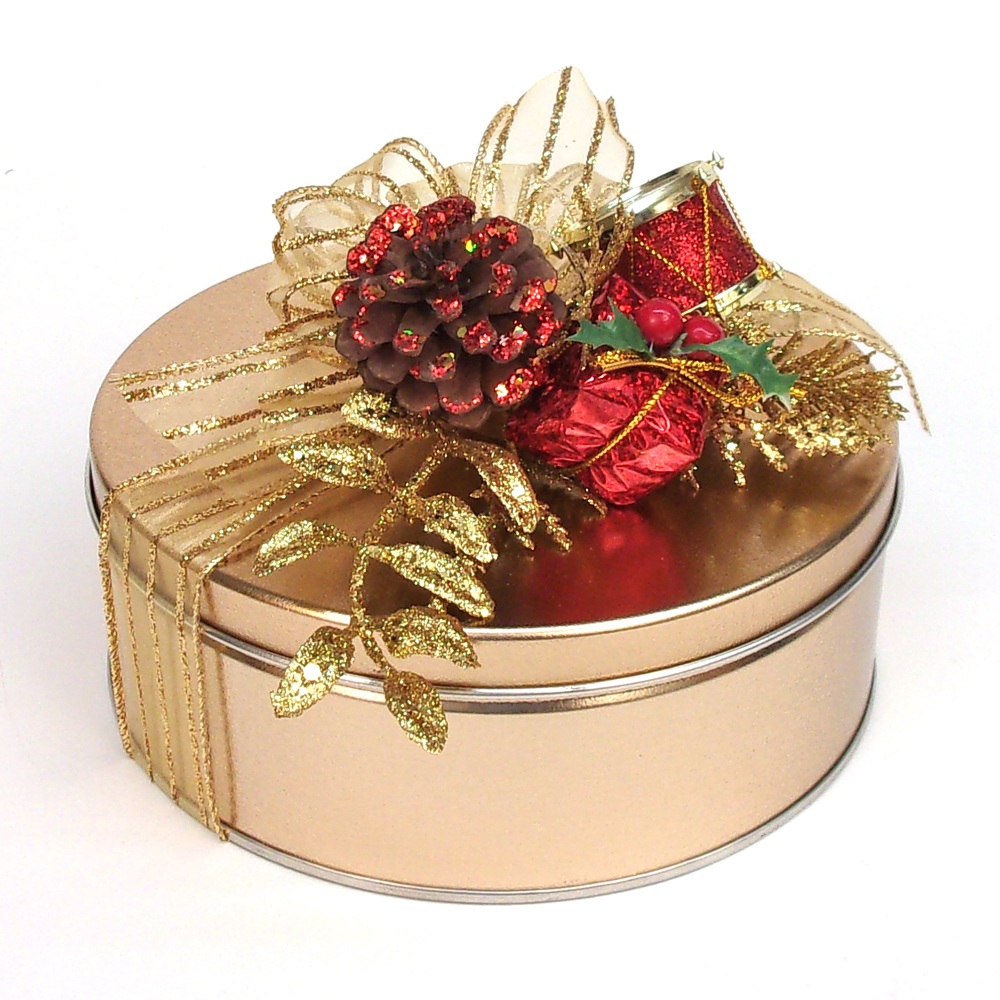 Nut Covered English Toffee Gift Tin