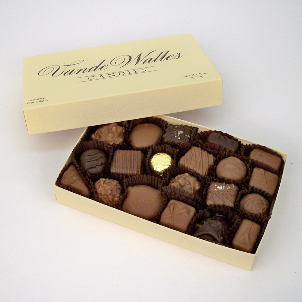 Assorted Milk & Dark Chocolates - 8 oz. Box