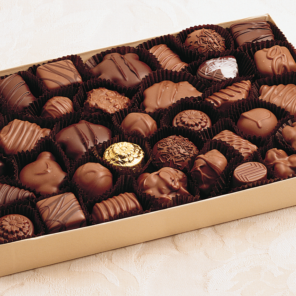 Assorted Milk & Dark Chocolates - 1 lb. Box