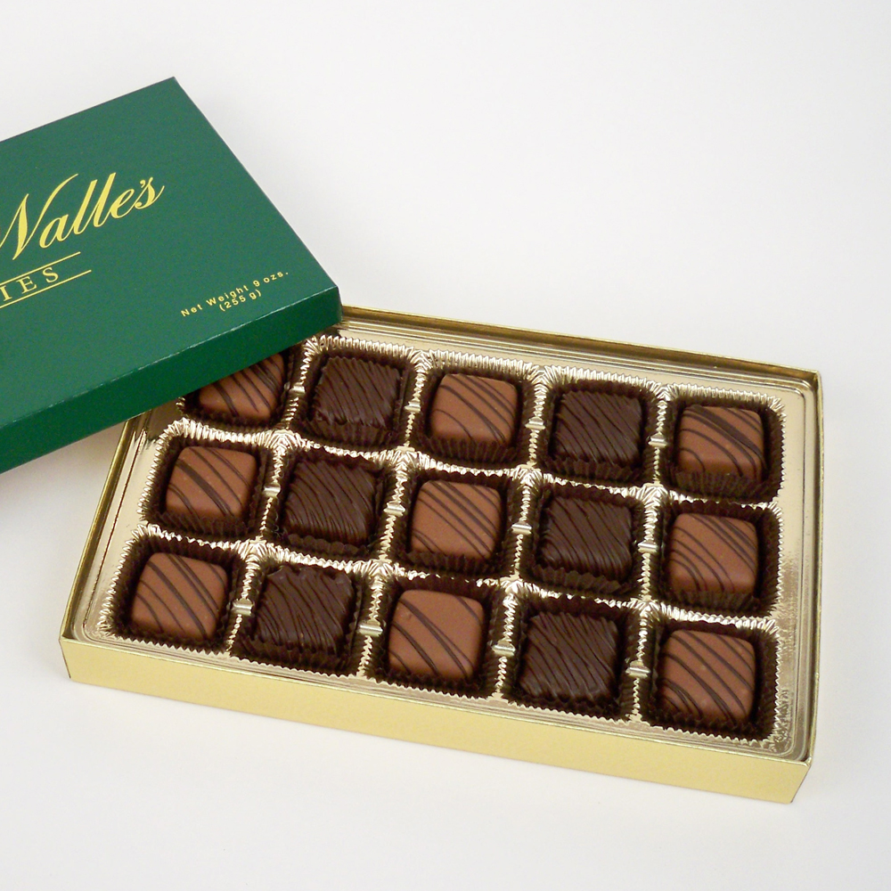 Mint Meltaways, Milk & Dark Chocolate - 15 pc. Box