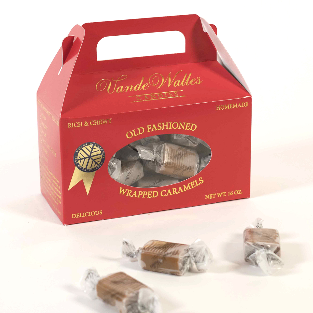 Wrapped Caramels - 1-lb. Red Tote