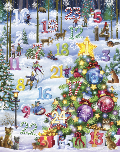 Snowy Slalom Advent Calendar