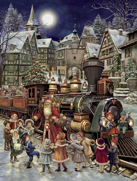 Santa's Rail Stop Advent Calendar