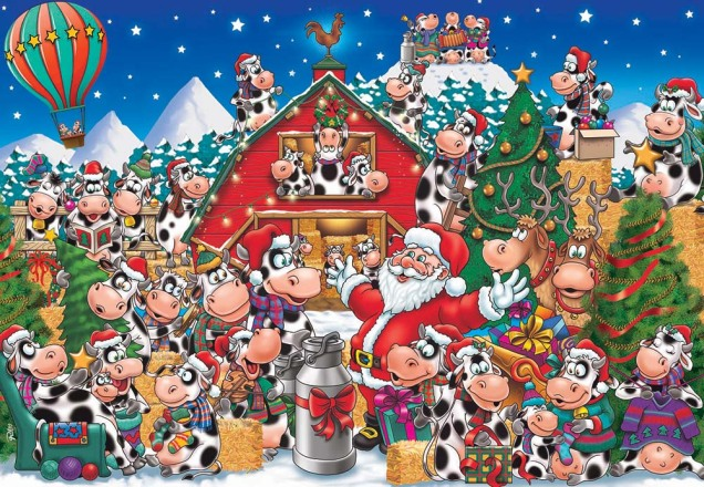 Christmas Cow Party Advent Calendar