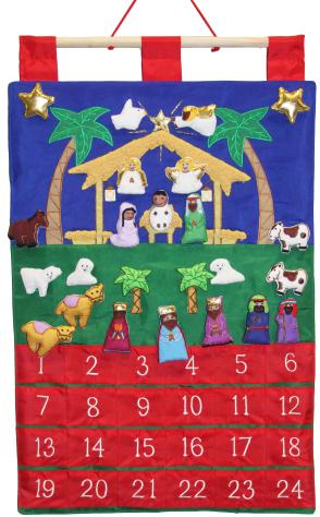 Holy Night Fabric Advent Calendar