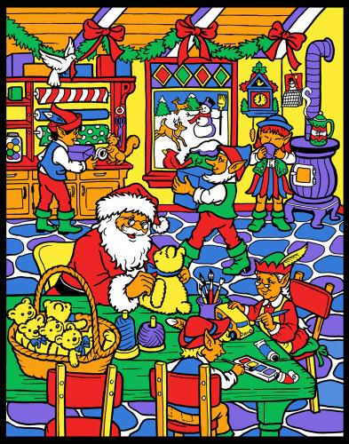 Santa's Workshop Color Your Own Advent Calendar
