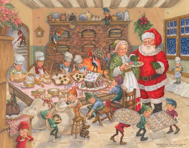 Santa's Kitchen Advent Calendar
