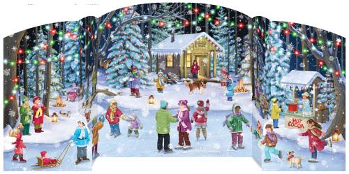 Holiday Skaters Advent Calendar