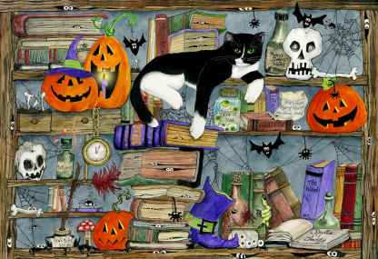 Halloween House Cat Jigsaw Puzzle