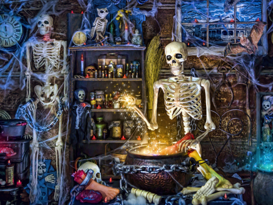 Skeleton's Stew Jigsaw Puzzle