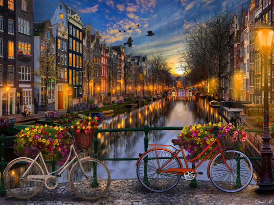 Amsterdam Aglow Jigsaw Puzzle