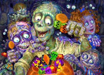 Zombies Like Candy Jigsaw Puzzle