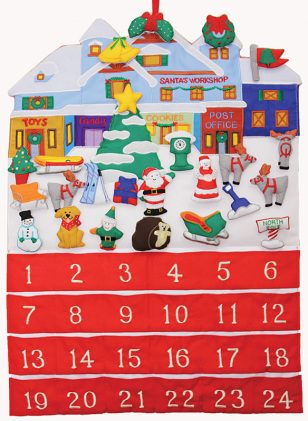 Santa's Workshop Fabric Advent Calendar