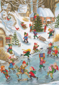 Wonderful Winter Advent Calendar w/Env