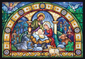 Stained Glass Holy Night Advent Calendar