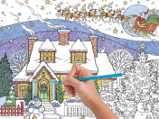 Snowman Celebration Color Your Own Puzzle