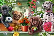 Garden Puppies Kid's Jigsaw Puzzle