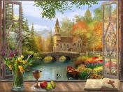 Autumn Church Jigsaw Puzzle