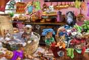 Kittens in the Kitchen Jigsaw Puzzle