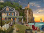 Beachside Lighthouse Jigsaw Puzzle