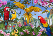Tropical Birds Jigsaw Puzzle