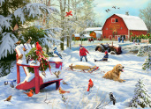 The Farm at Christmas Jigsaw Puzzle