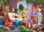 Jesus with Children Jigsaw Puzzle