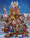 Canine Christmas Tree Jigsaw Puzzle