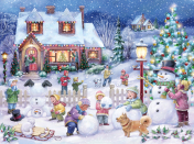Snowman Celebration Jigsaw Puzzle