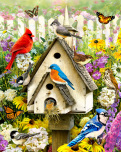 Backyard Birds Jigsaw Puzzle