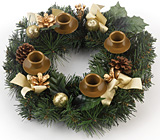 Case of 12 Traditional Pine Cone Advent Wreath