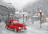 Box Holiday Ride Christmas Cards
