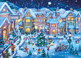 Box Holiday Village SquareChristmas Cards