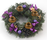 Purple Ribbon Advent Wreath