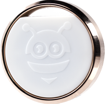 The Finder - Rose Gold - Pebblebee Bluetooth tracker