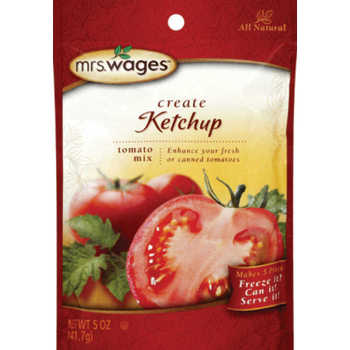 Mrs Wages Ketchup Tomato Sauce Mix