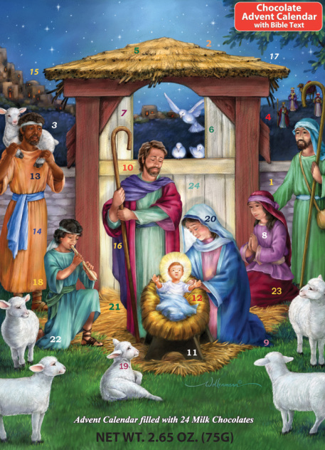 Holy Manger Chocolate Advent Calendar