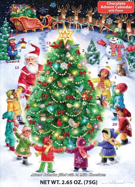 Gather Round the Tree Chocolate Advent Calendar