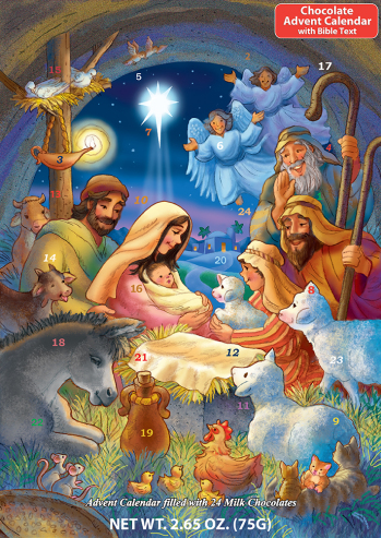 Baby in a Manger Chocolate Advent Calendar