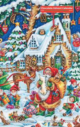 Santa's Helpers Chocolate Advent Calendar - Set of 12