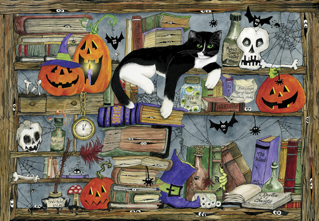 Halloween House Cat Jigsaw Puzzle