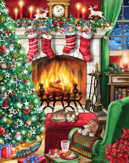 Cozy Christmas Jigsaw Puzzle