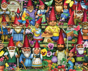 Gnomes Galore Jigsaw Puzzle
