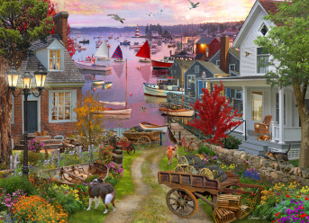 Evening in the Harbour Jigsaw Puzzle